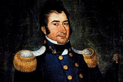 Hipólito Bouchard, de importante actuación por la guerra de corso que desarrolló en distintos puntos del globo.