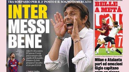 Lionel Messi, en el centro de los medios italianos