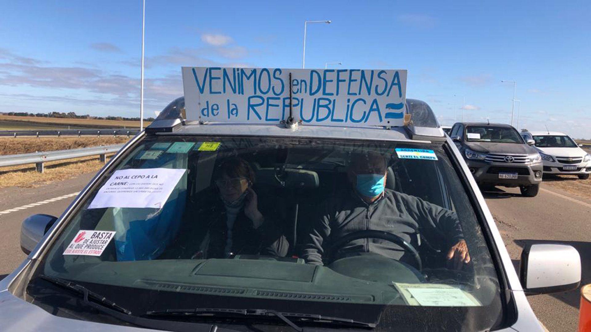 Protesta en Pergamino
