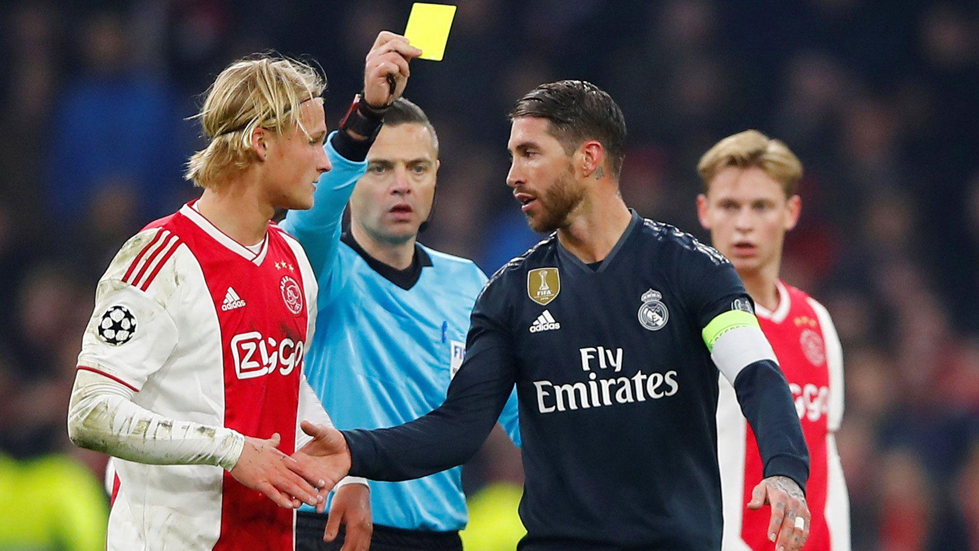 Sergio Ramos tampoco estuvo en el partido de vuelta ante el Ajax en octavos de la 2018-19 (Reuters)