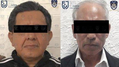 """Miguel Ángel """"N"""" y Hedilberto """"N"""" fueron vinculados a proceso por un juez de control de la CDMX (Foto: FGJ)"""