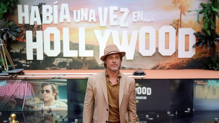 """Pitt presentó hace unas semanas en México la película """"Once Upon a Time in Hollywood"""" REUTERS/Luis Cortes"""