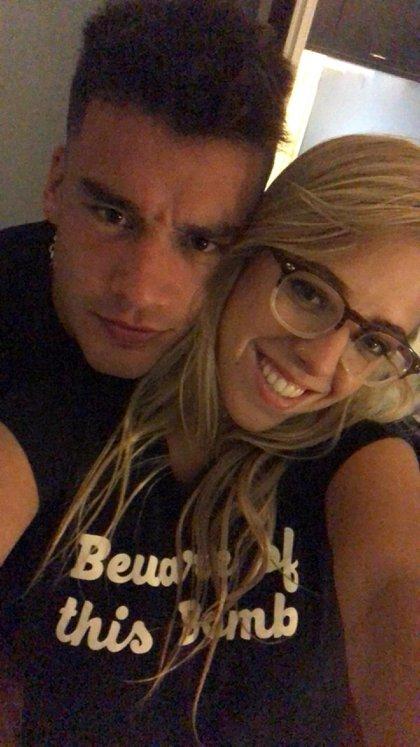 Nati y su ex, en tiempos felices