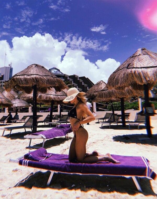 Laurita Fernández de vacaciones en Cancún. (Foto: Instagram)