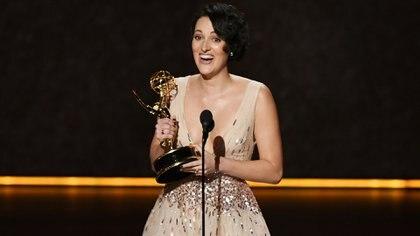 Phoebe Waller-Bridge en la ceremonia de entrega de los premios Emmy (Kevin Winter/Getty Images/AFP)