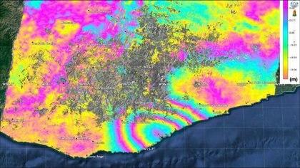 Crédito: NASA, JAXA  Sang-Wan Kim, Batu Osmanoglu y Min-Jeong Jo.