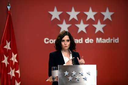 La presidenta de la Comunidad de Madrid, Isabel Díaz Ayuso, comparece en rueda de prensa en la Casa Real de Correos, en Madrid, (España), a 21 de octubre de 2020. POLITICA EUROPA PRESS/O.CAÑAS.POOL - Europa Press