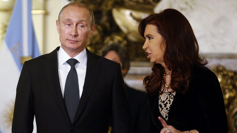 Cristina y Putin en la Casa Rosada (Reuters)