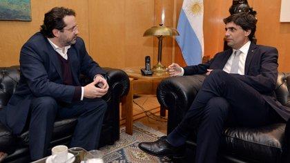 Hernán Lacunza recibió a Marco Lavagna en el ministerio de Hacienda