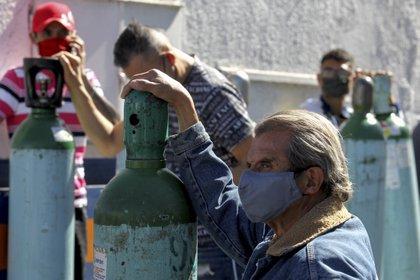Detuvieron a tres por asalto en local de venta de oxígeno medicinal en CDMX (Foto: ULISES RUIZ / AFP)
