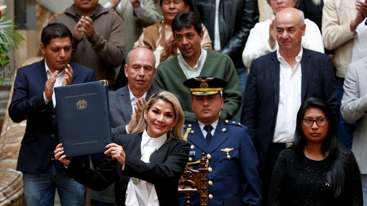 Jeanine Áñez, presidente interina de Bolivia. (AP Photo/Juan Karita)