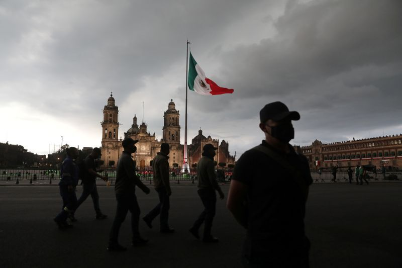 IMAGE DU FICHIER.  Vue de la Plaza el Zócalo à Mexico, le 15 septembre 2020. REUTERS / Henry Romero