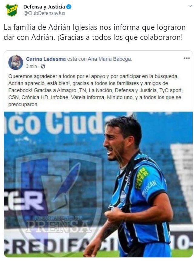 La confirmación de la aparición del ex futbolista Adrián Iglesias