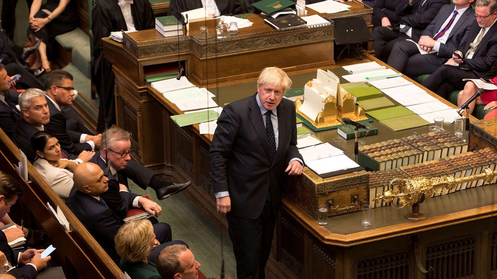 Boris Johnsonen el Parlamento Británico (©UK Parliament/Roger Harris/Handout via REUTERS)