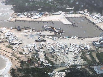 Otra imagen desoladora de la destrucción por el huracán (Photo by HO / US Coast Guard / AFP)
