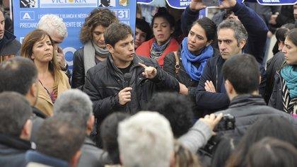 Larog y Kisiloff, en gira electoral. Hoy apoyaron boudou