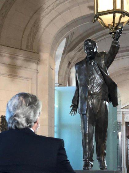 El monumento de Néstor Kirchner en el CCK