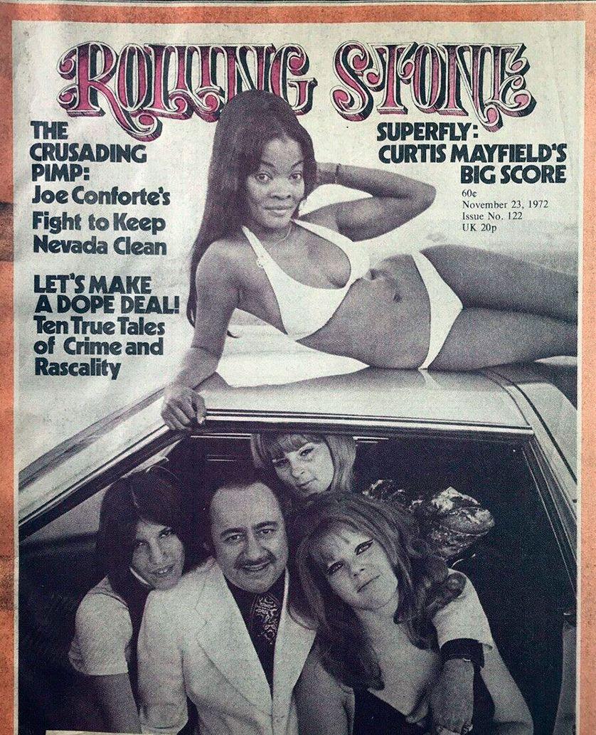 Joe Conforte en la tapa de Rolling Stone