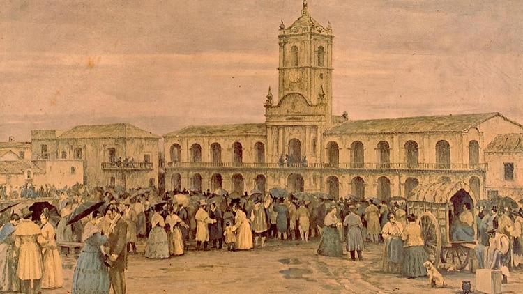 En mayo de 1810French y Beruti no repartieron cintilloscelestes y blancas