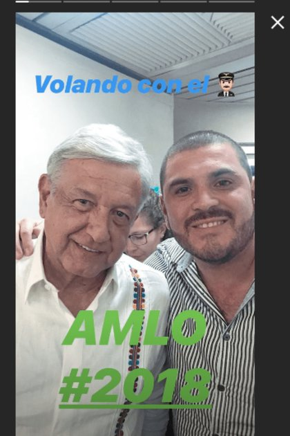 During AMLO's presidential triumph, he was contacted by Komander at an airport (Photo: File)