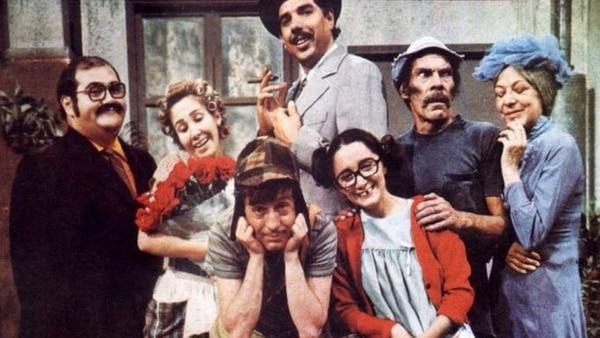 """Elenco de """"El Chavo del 8"""" en los años setenta."""