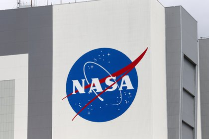 Logo della NASA presso il Kansas Space Center, USA.  Reuters / Joe Skipper