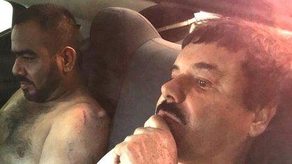 """El Cholo Iván y su jefe, Joaquín """"El Chapo"""" Guzmán"""