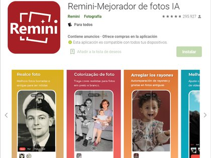 La app también permite generar fotos con efectos de pintura