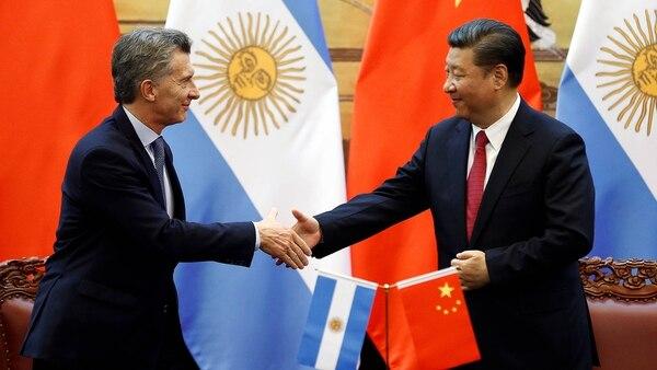 El presidente Macri, junto a su par de China, Xi Jinping (foto de archivo: REUTERS)