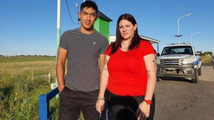 Lucrecia Yudati y Fernando Pengsawath, los policías baleados en la triple fuga.
