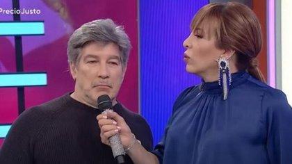 """Pachu Peña y Lizy Tagliani en """"El precio justo"""""""