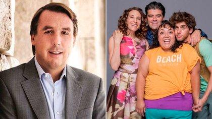 El empresario Emilio Azcárraga tendrá una aparición especial en 40 y 20. (Fotos: @lopezdoriga/ Twitter - @40y20LaSerie/ Instagram)