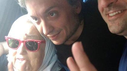 Máximo Kirchner junto a Hebe de Bonafini