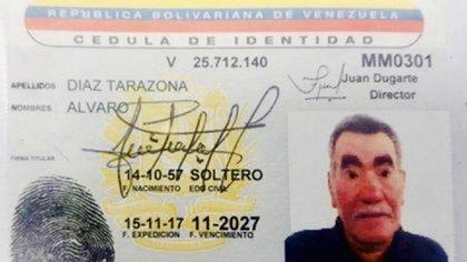 La cédula venezolana de alias Edward