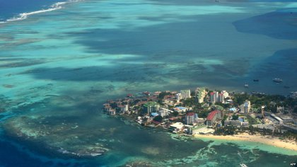 Aerial view of the island of San Andrés.  File photo.