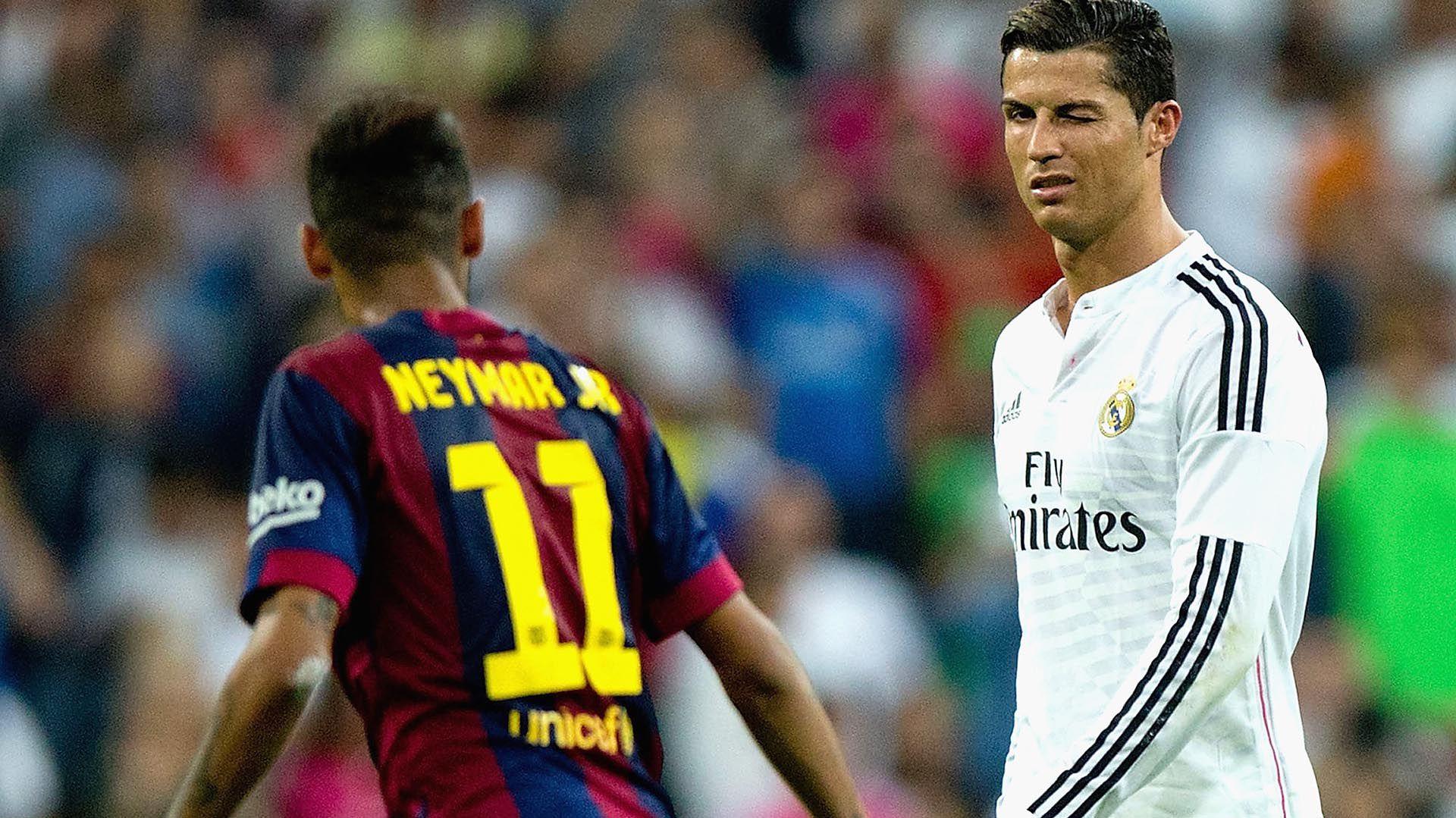Neymar enfrentó a Cristiano Ronaldo cuando ambos estaban en La Liga de España (Foto: Gonzalo Arroyo Moreno/Getty Images)