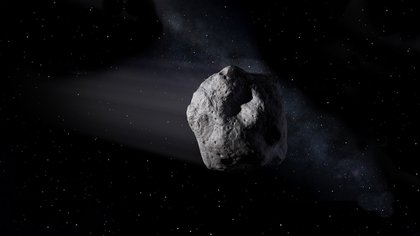 09/23/2020 This illustration shows a near-Earth asteroid like asteroid 2020 SW traveling through space POLITICS RESEARCH AND TECHNOLOGY NASA / JPL-CALTECH
