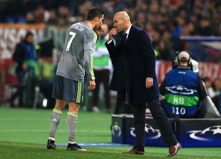 Zidane y Cristiano Ronaldo ganaron 9 títulos en el Real Madrid (Getty Images)