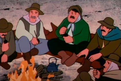 Ronda de mate alrededor del fuego. Uno de los creadores -el afamado Hayao Miyazaki, ganador de un Oscar- viajó a la Argentina para conocer lugares y costumbres