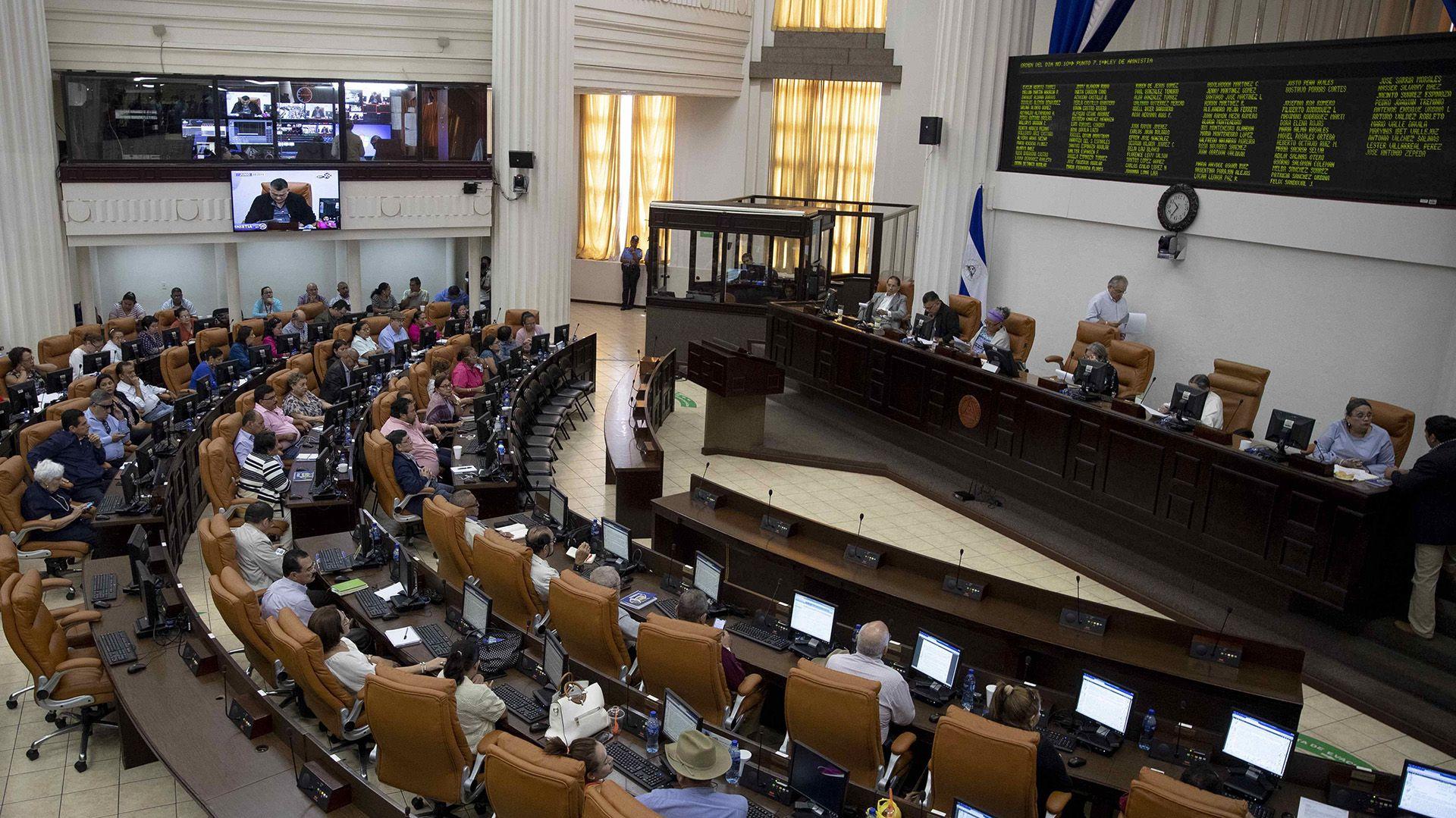 La Asamblea Nacional de Nicaragua (EFE/Jorge Torres)