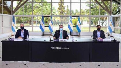 Alberto Fernández anuncia la nueva fase del aislamiento social (Presidencia)
