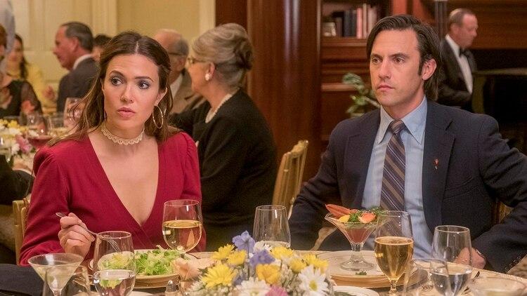Mandy Moore y Milo Ventimiglia en This is Us (Ron Batzdorff / NBC)