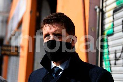 Alan Ruiz, al declarar la semana pasada en el juzgado de Lomas de Zamora (Maximiliano Luna)