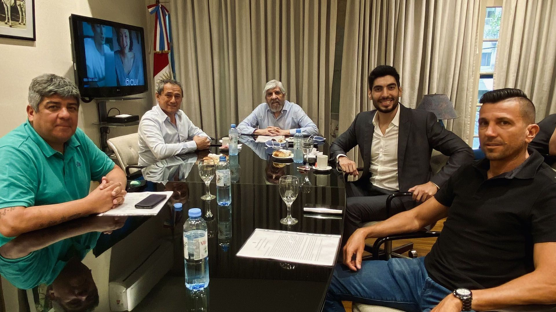 Hugo Moyano se reunió con Sergio Sasia, de la Unión Ferroviaria