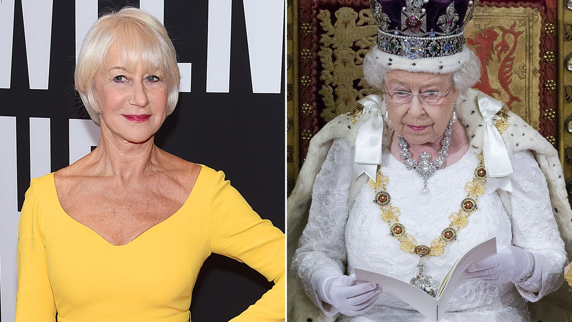 Helen Mirren y la reina Isabel II