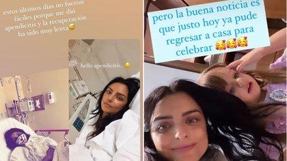 Aislinn Derbez alarmó con una foto desde el hospital