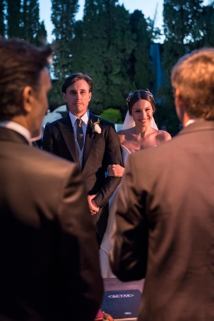 Instantes antes de dar el sí, Pampita hizo mención al pedido que le había hecho a su hija a principios de año (Estudio Ruiz y Russo)