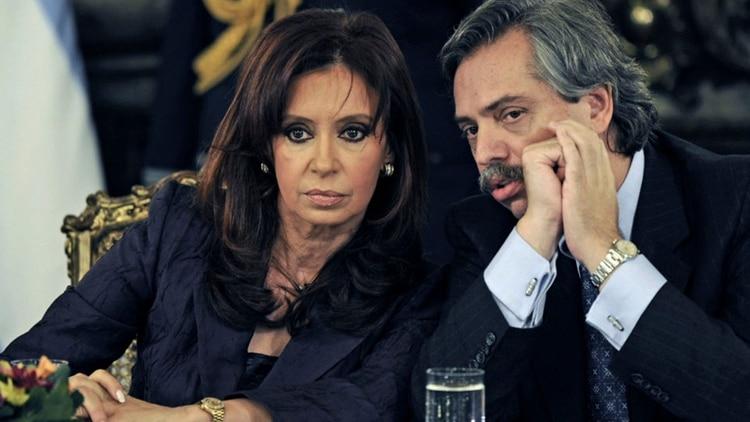 Otros tiempos. Cristina Kirchner en su primer mandato de gobierno junto a Alberto Fernández. (Gentileza: 5 días)