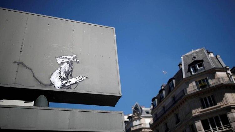 El artista inglés intervino decenas de espacios parisin0s