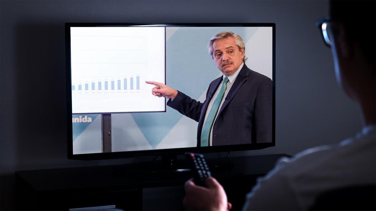 Se extiende la cuarentena: pico de 53,2 puntos de rating para el discurso de Alberto Fernández - Infobae